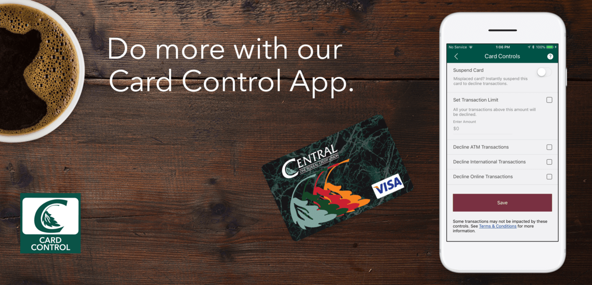 Do More with our Card Control App