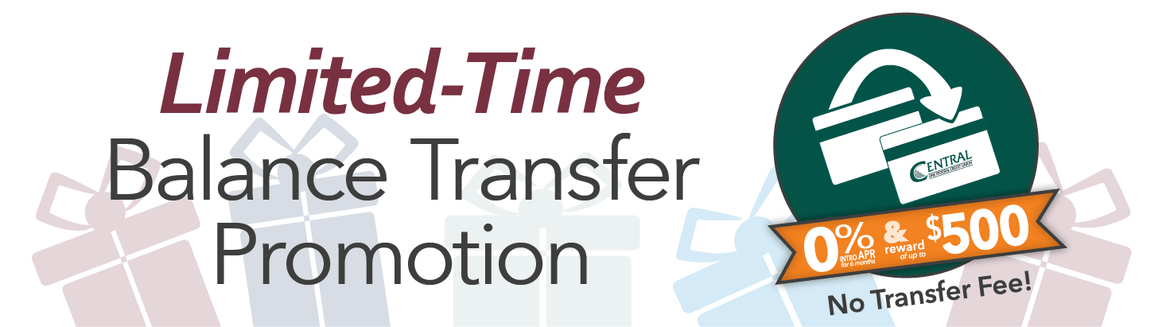 Limited Time Balance Transfer Promotion